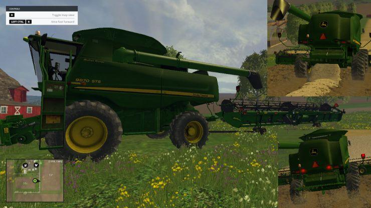 JOHN DEERE 9870STS 640D CUTTER/TRAILER • Farming simulator 19, 17