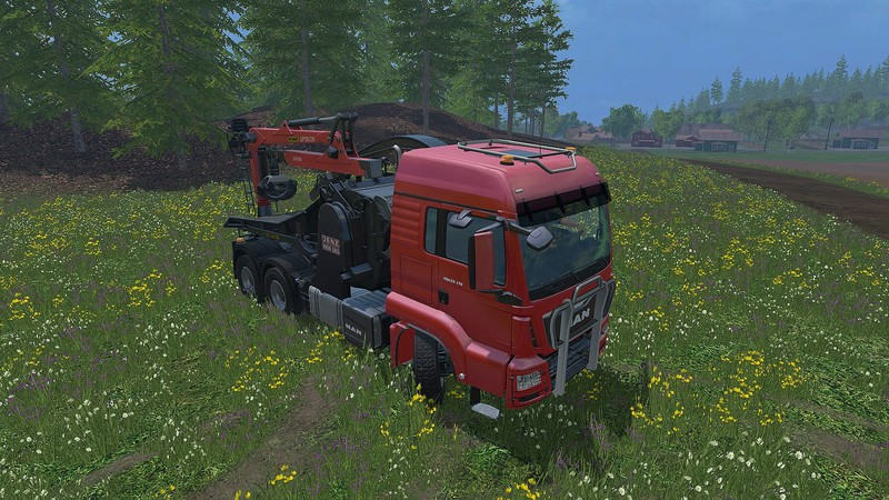 MAN TGA 28 350 Jenz Mobile Chipper V 1 1 • Farming simulator