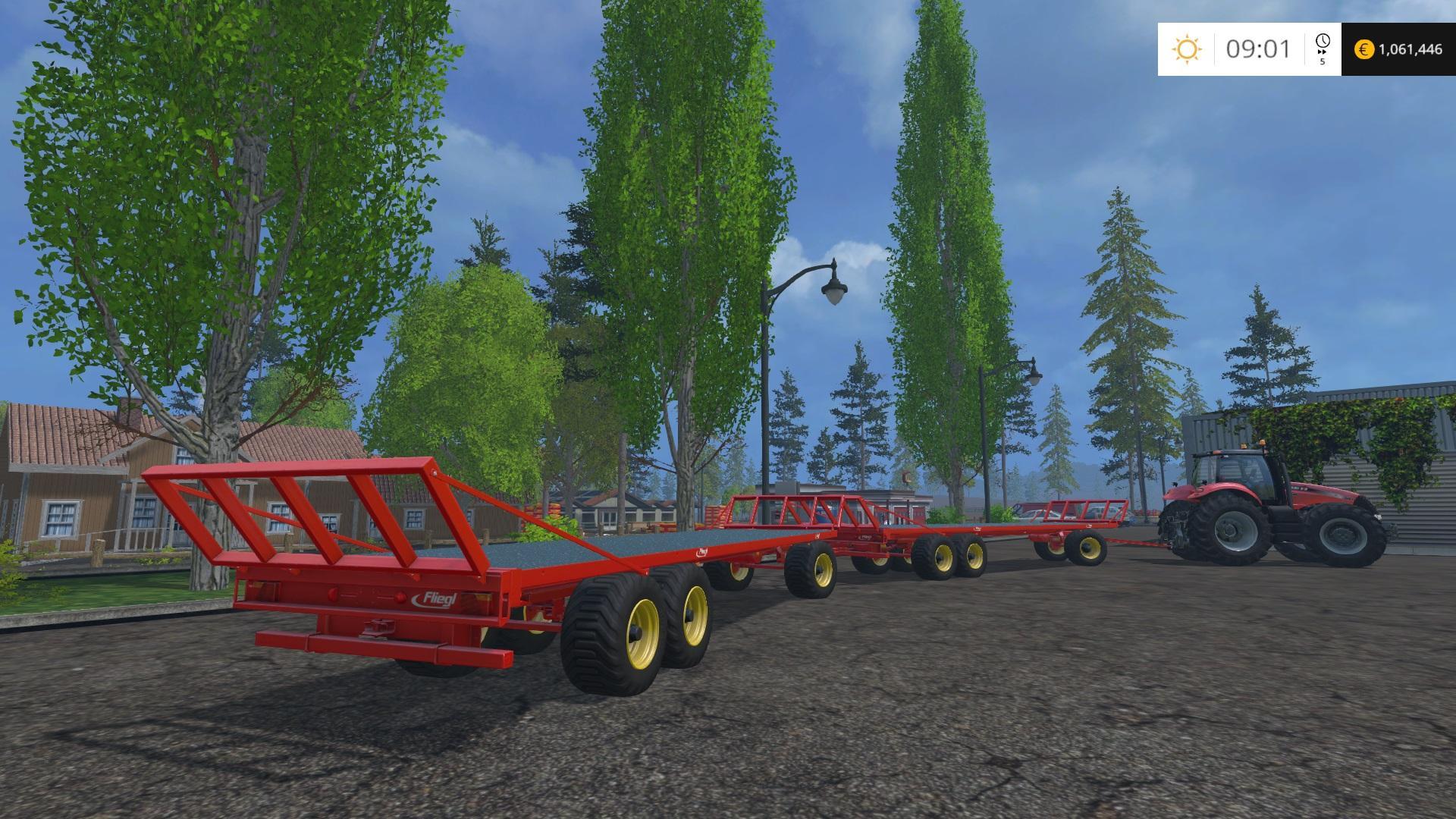 FLIEGL DPW180 BALE TRAILER V1 0 • Farming simulator 19, 17, 15 mods