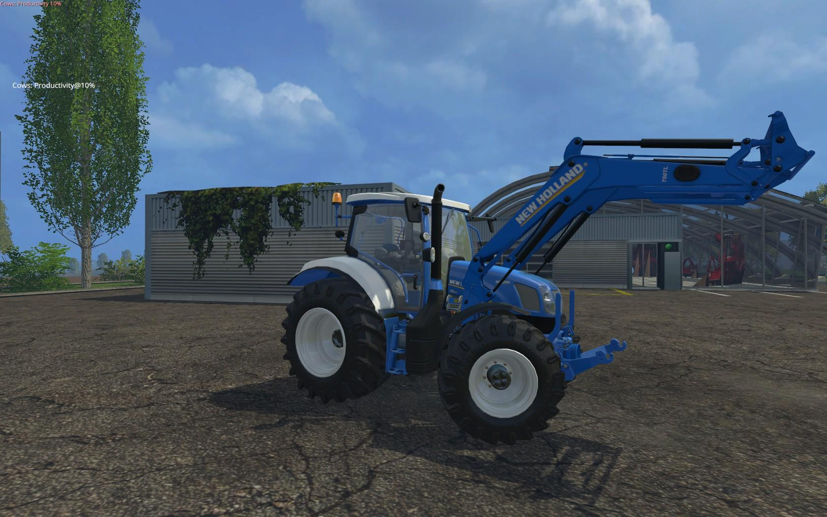 NEW HOLLAND COLORED WITH FRONT LOADER • Farming simulator 19, 17, 15
