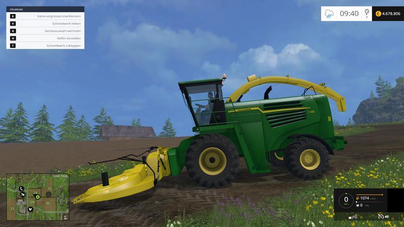 JOHN DEERE 7180 KEMPER 460 PLUS V1 1 • Farming simulator 19