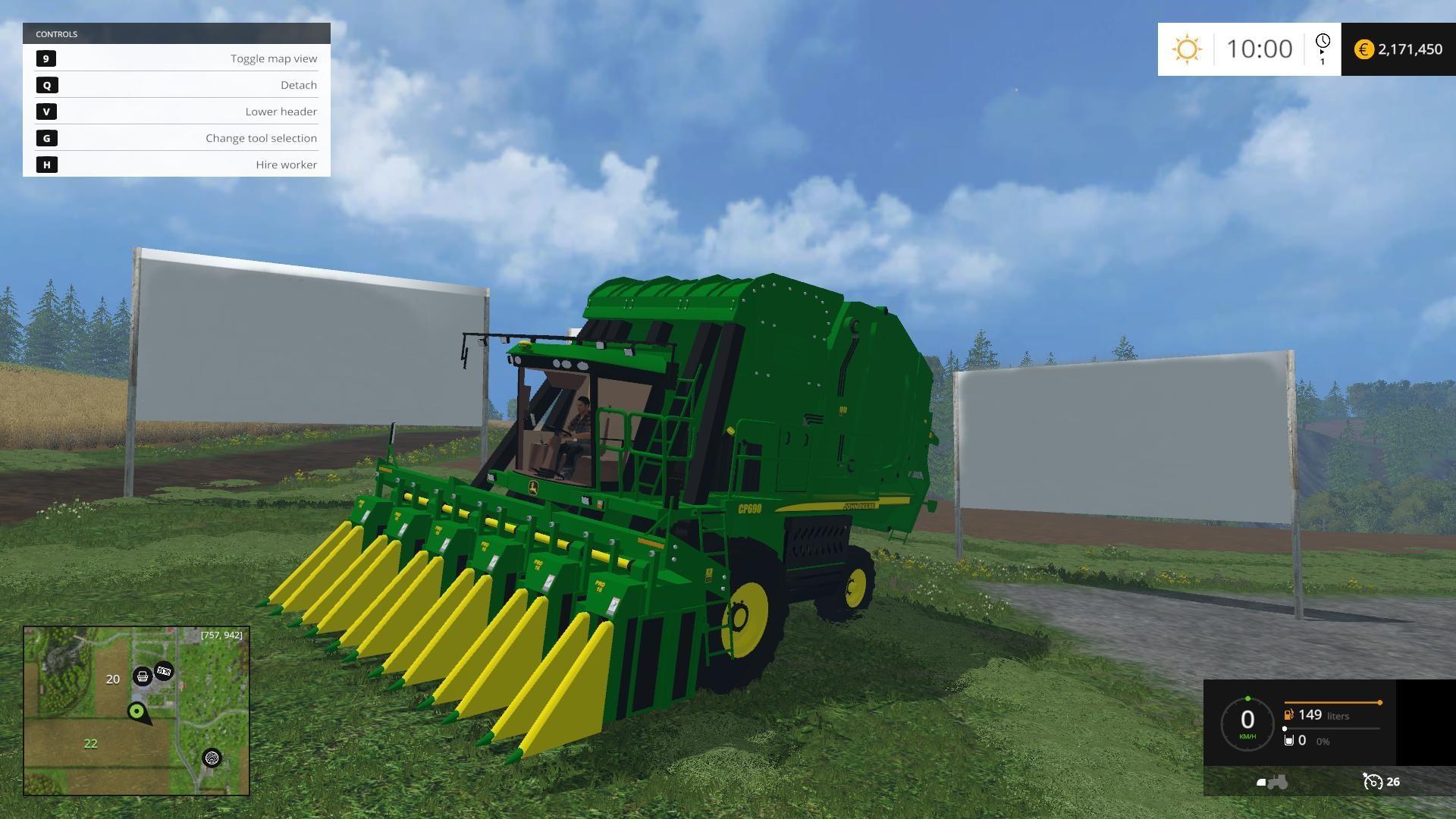 JOHN DEERE 7760 COTTON PICKER V1 0 • Farming simulator 19, 17, 15
