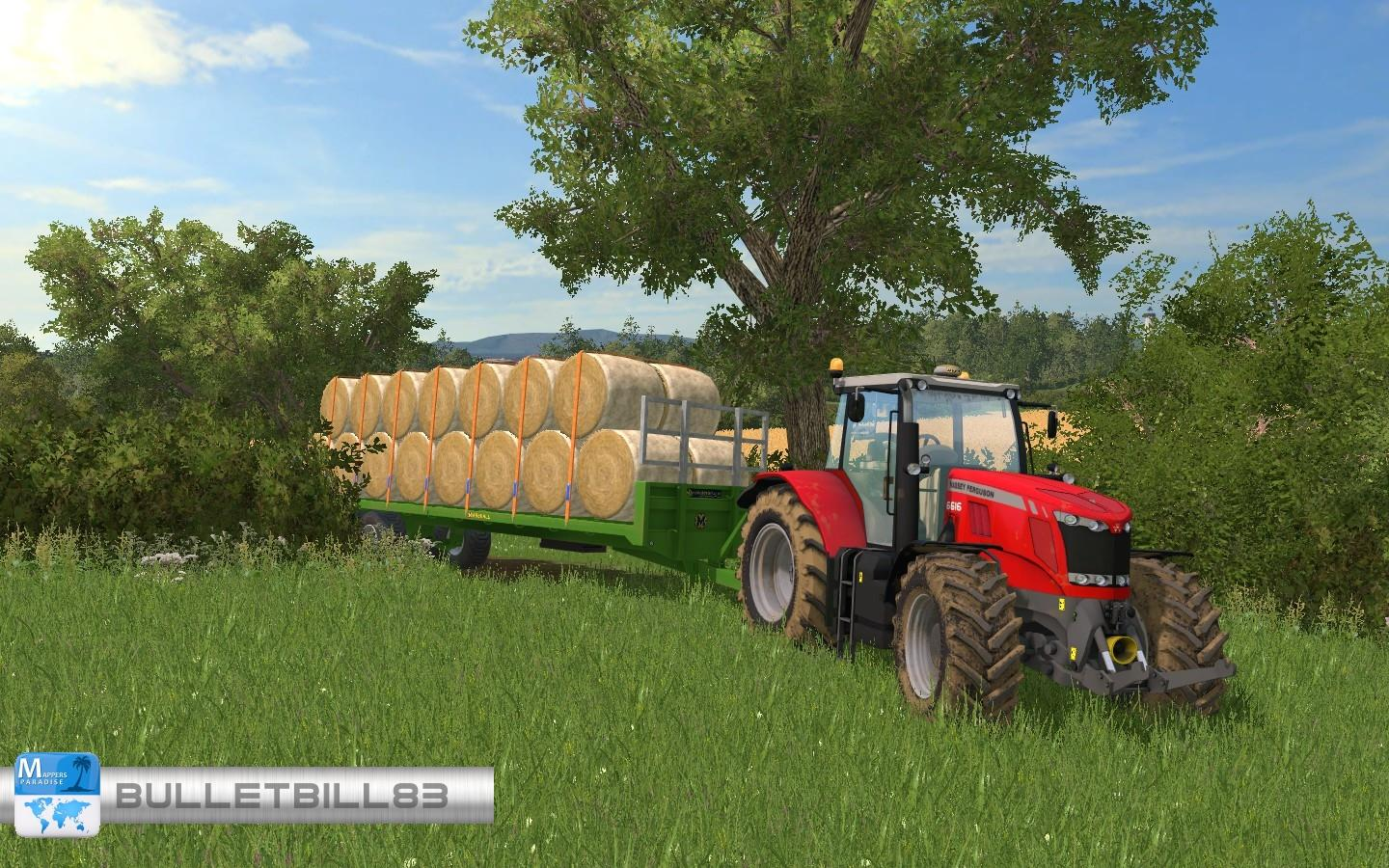 MARSHALL BALE TRAILER PACK • Farming simulator 19, 17, 15 mods