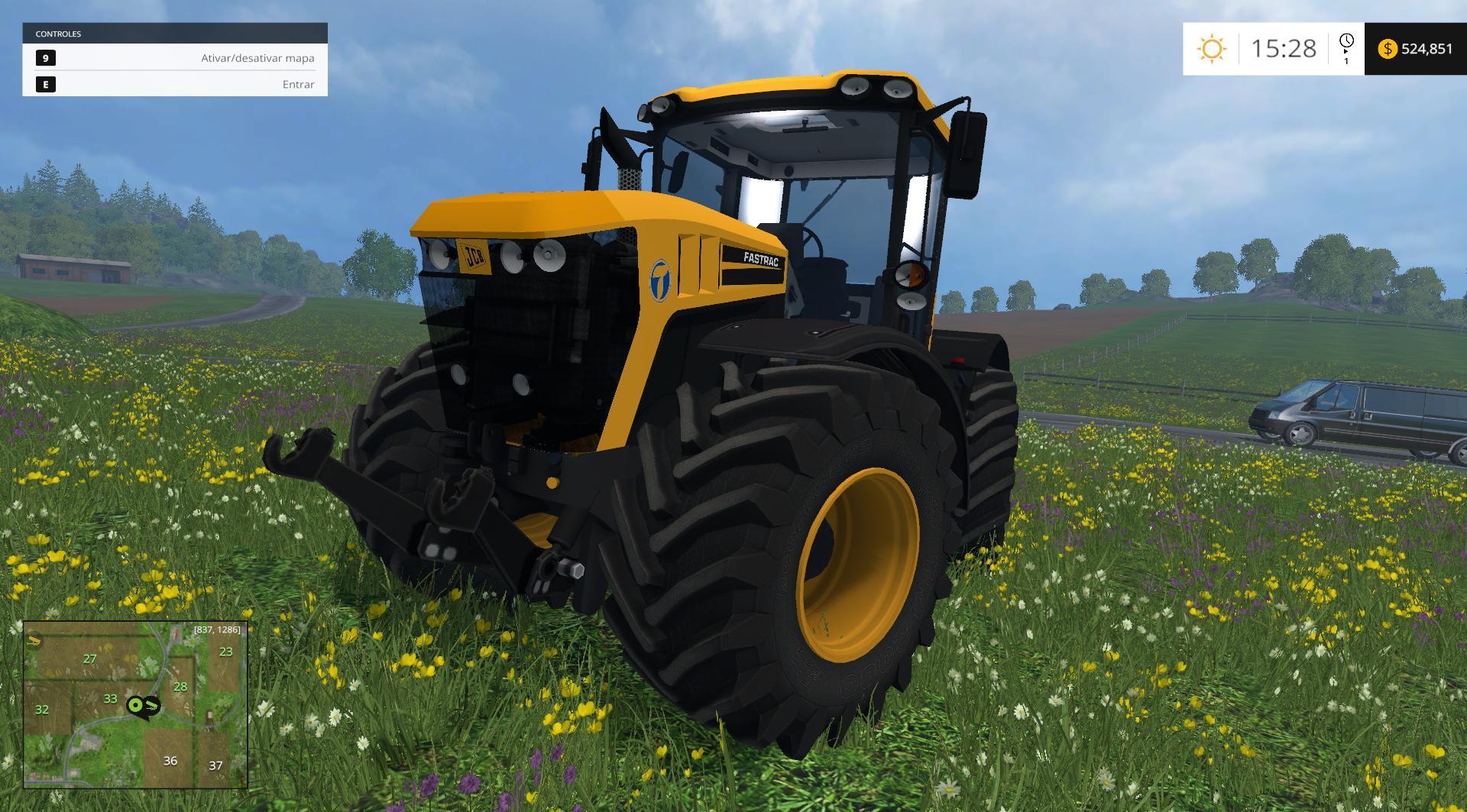 JCB Fastrack 4000 Fs 2015 • Farming simulator 19, 17, 15 mods | FS19