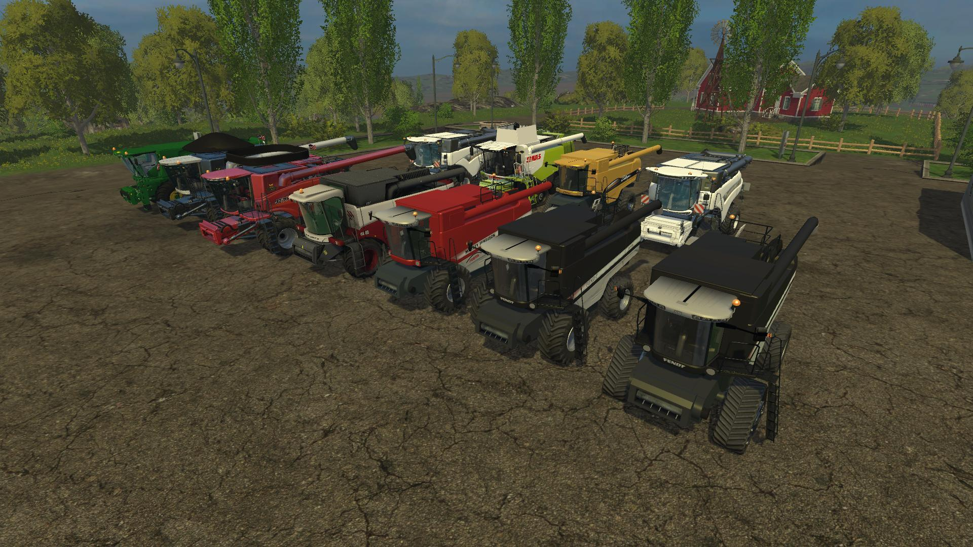 MEGA COMBINES PACK BY IRVINE87 • Farming simulator 19, 17