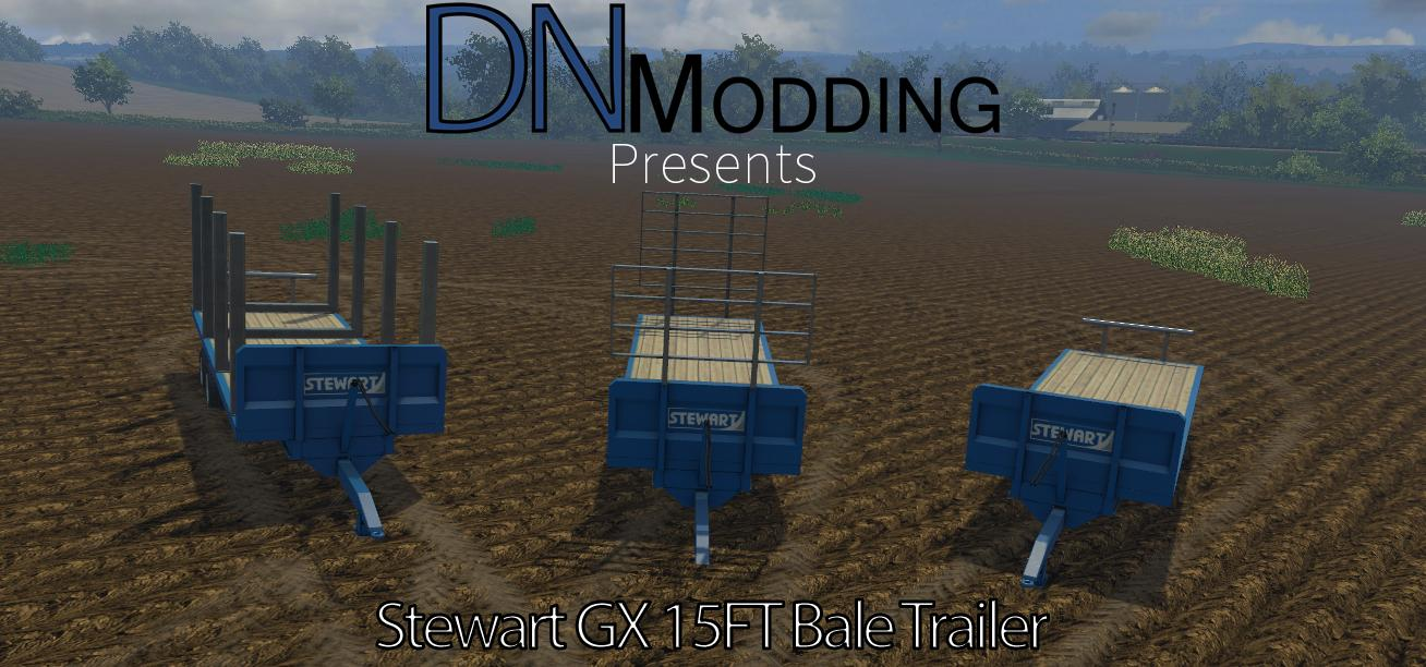 STEWART 15FT BALE TRAILER V2 • Farming simulator 19, 17, 15 mods