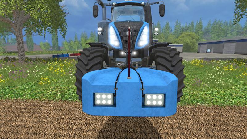 FSM HOMEMADE WEIGHT 800KG WITH LIGHTS V1 0 • Farming