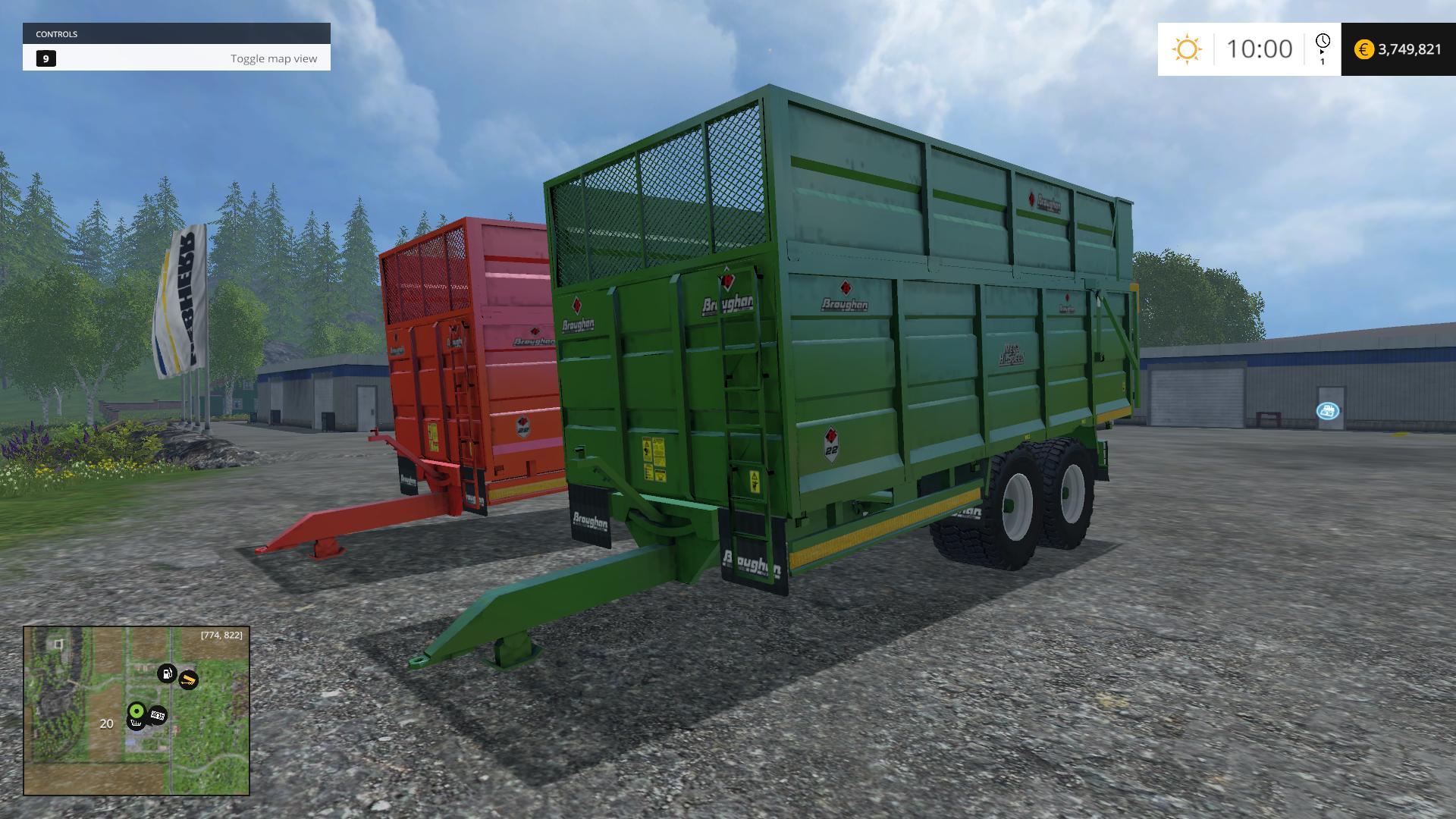 BROUGHAN SILAGE TRAILER V1 • Farming simulator 19, 17, 15