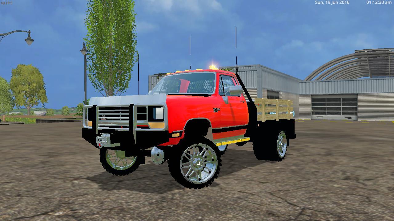 Dodge W350 Dually Flatbed V2 0 Farming Simulator 19 17 15 Mods Fs19 17 15 Mods