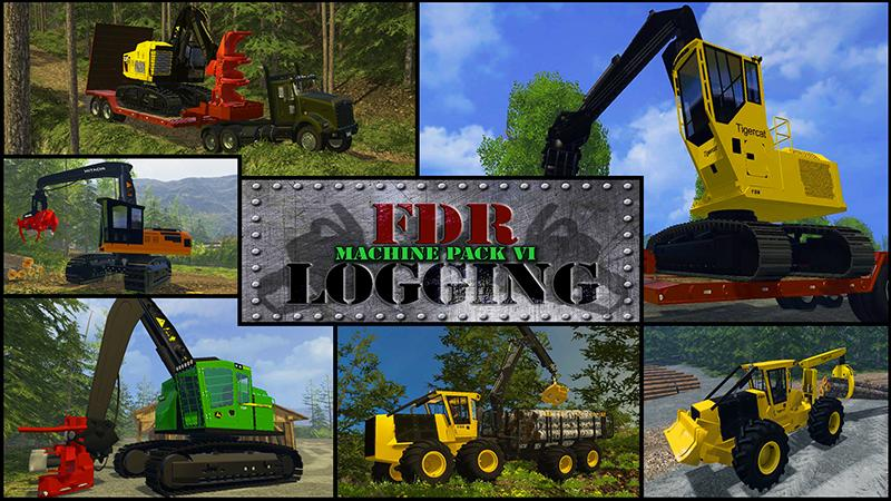 FDR LOGGING - MACHINE PACK 6 (VI) • Farming simulator 19, 17