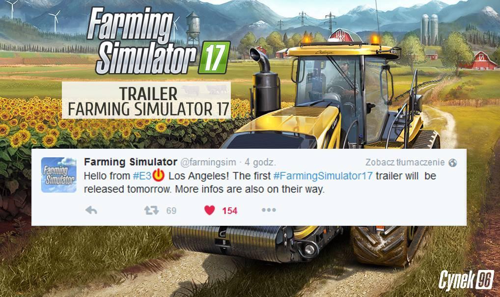 FS2017 Trailer will be released Today! • Farming simulator 19, 17