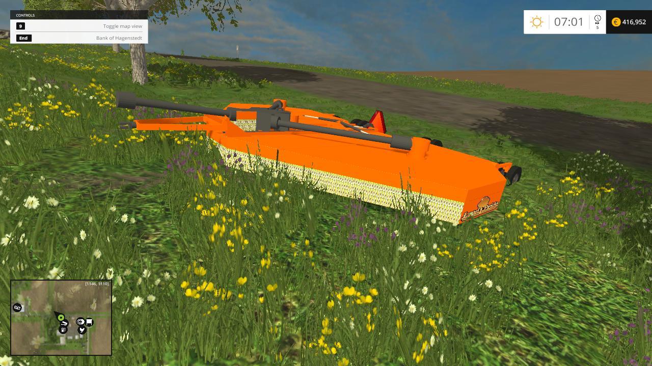 Land Pride Bush Hog V1 Farming Simulator 19 17 15 Mods