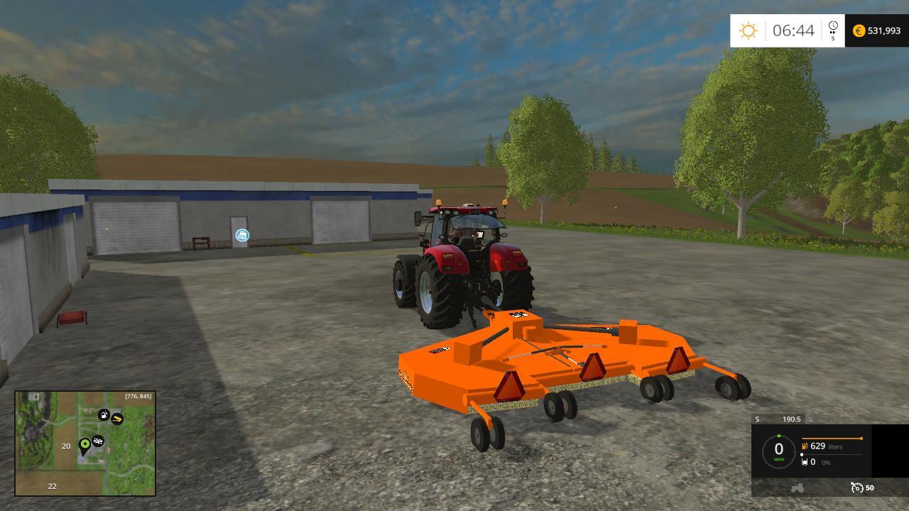 LAND PRIDE BUSH HOG V2 • Farming simulator 19, 17, 15 mods | FS19