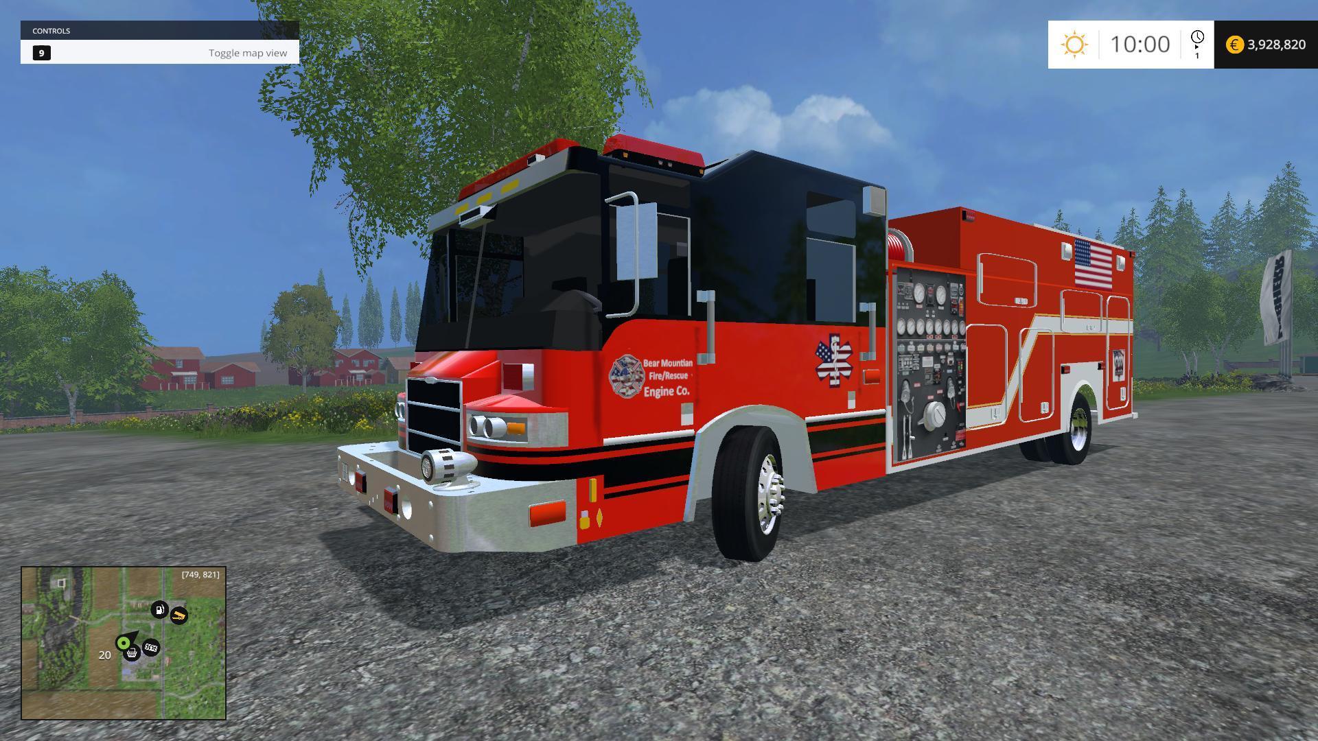 U S FIRE TRUCK [LEAKED] V1 0 • Farming simulator 19, 17, 15