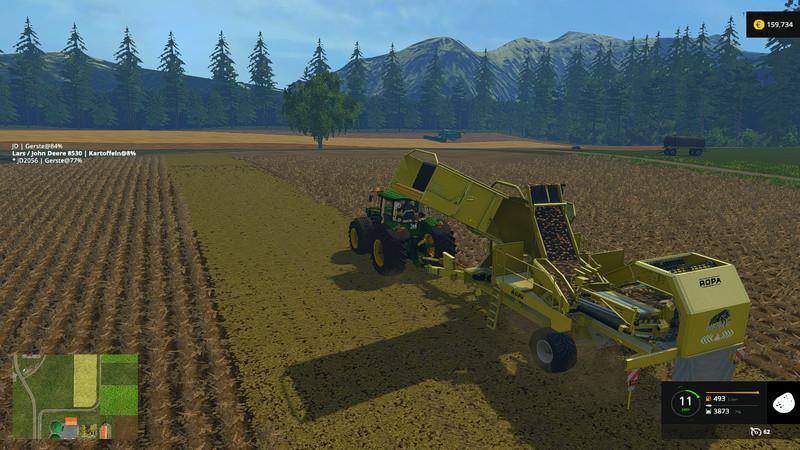 ROPA TIGER POTATO HARVESTER V1 0 • Farming simulator 19, 17, 15 mods