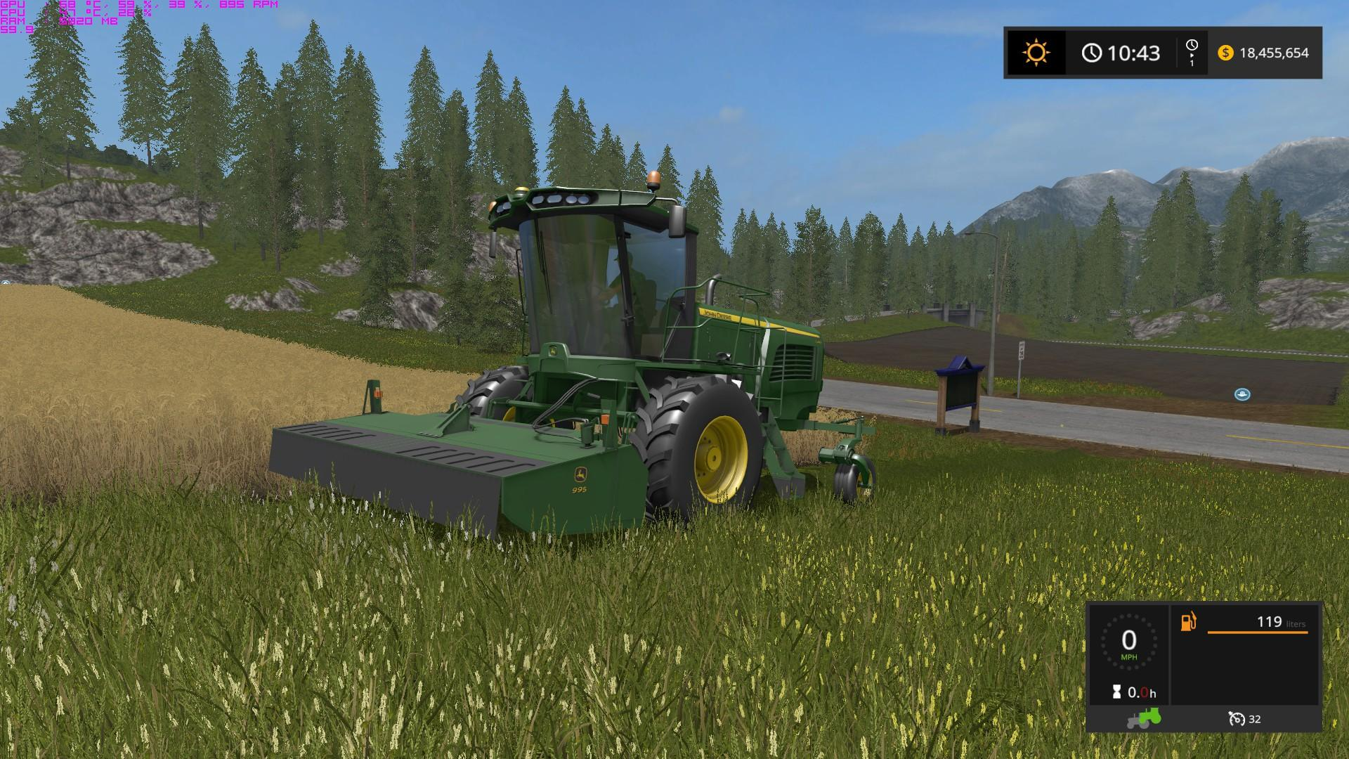 FS2017 JOHN DEERE W260 WINDROWER V1 • Farming simulator 19