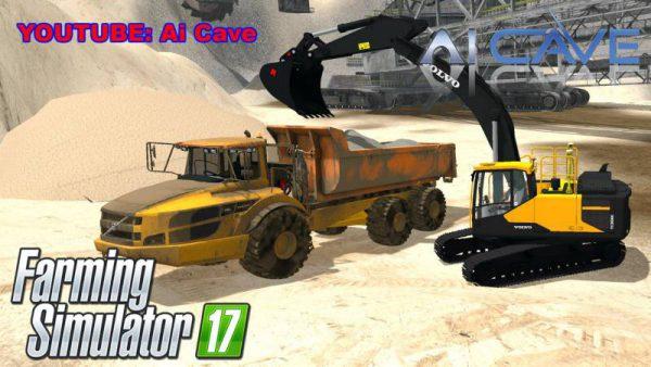 FS17 VOLVO EC300E EXCAVATOR & A40 TRUCK MODS • Farming simulator 19