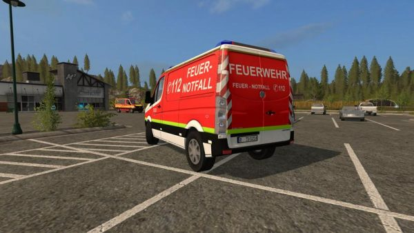 FS17 VW CRAFTER KEF SKIN OF THE FIRE DEPARTMENT DUSSELDORF