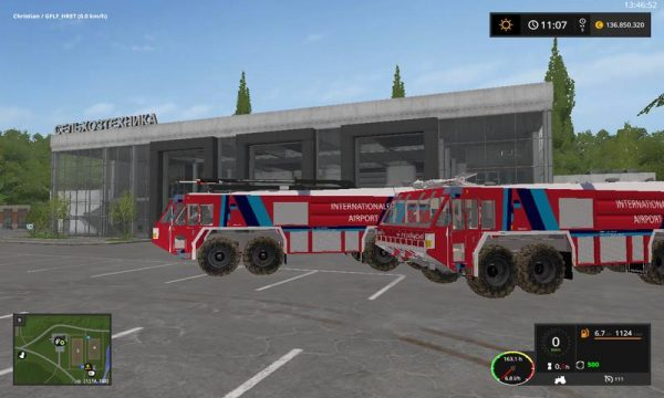 FS17 TWO AIRFIELD FIRE ENGINES V1 0 0 0 1 • Farming