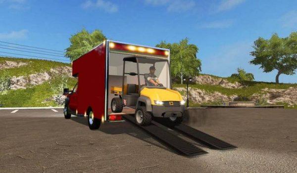 Fs17 Ford F450 Utility Truck Trailer V1 0 Farming