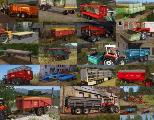 FS17 REMORQUE / PLATEAU PACK V1 0 • Farming simulator 19, 17, 15