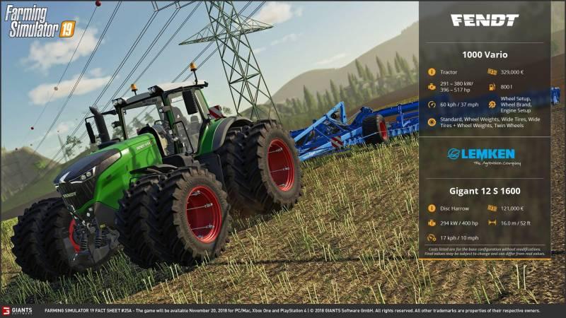 FARMING SIMULATOR 2019 FACT SHEET #11 • Farming simulator 19