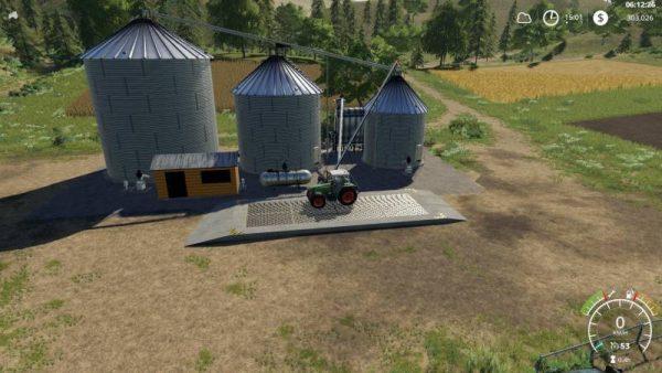 FS19 LARGE GRAIN SILO V1 0 1 0 • Farming simulator 19, 17, 15 mods